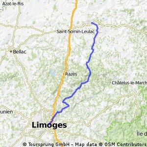 2015 Ride Day 40 - Limoges to La Souterraine