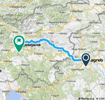 Zagreb Ljubljana Bikemap Your Bike Routes