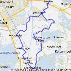 Tocht rondom het Amsterdamrijnkanaal