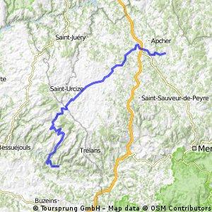 Rando Route Lozère - étape 7