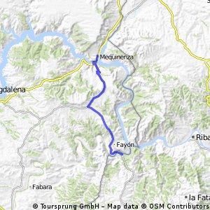 9ª Etapa (sector 1º): MEQUINENZA – FAIO – LA POBLA de MASSALUCA 25 km.
