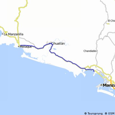Melaque Mexico Map.Cycling Routes And Bike Maps In And Around San Patricio Bikemap