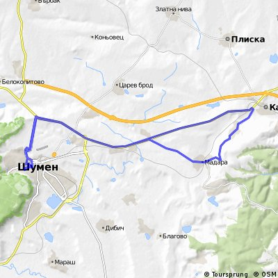 Cycling Routes And Bike Maps In And Around Shumen Bikemap Your
