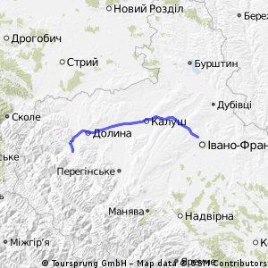 Івано-Франківськ - Калуш - Долина - Вигода