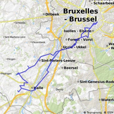 Cycling routes and bike maps in and around Brussels Bikemap Your