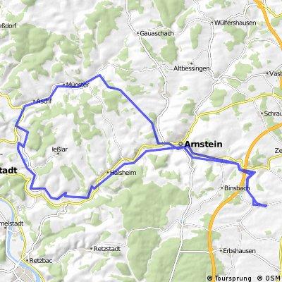 Rieden - Eußenheim - Aschfeld - Arnstein - Rieden