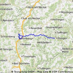 Albstadt-Neckarburg-Irslingen und zurück