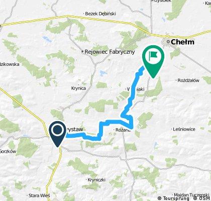 Fragment Autostrady Rowerowej Green Velo KRASNYSTAW –Zalew Zółtańce (CHEŁM)