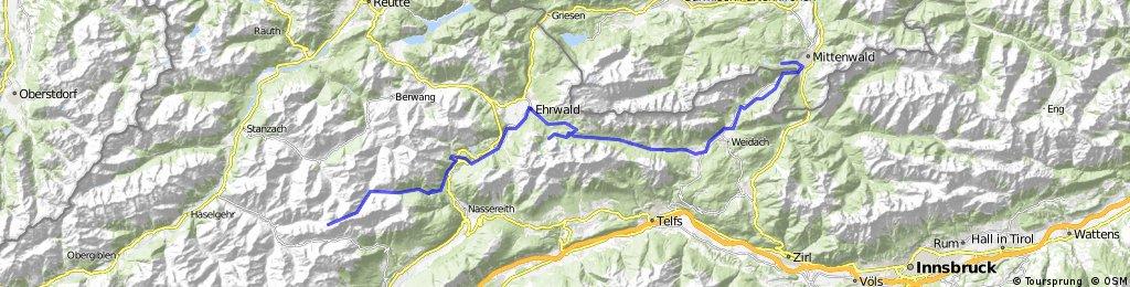 Massiv Alp 3: Mittenwald- Anhalter Hütte
