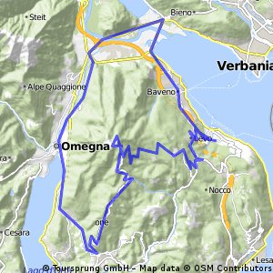 Route Monterosso-Lago Maggiore 60 km - 2030 hm
