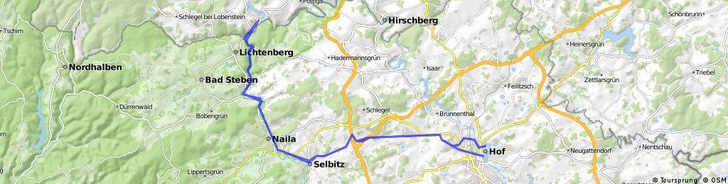 ADFC-Hof: Tour von Hof zum Höllental und zurück