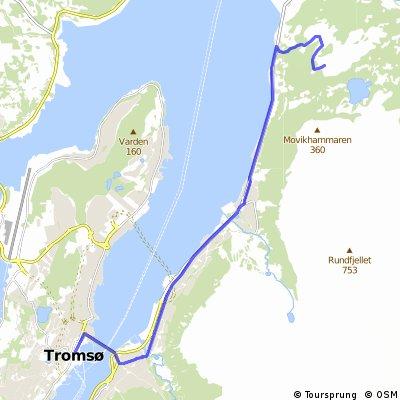 Tromsø - Tønsnesvarden (281 moh)
