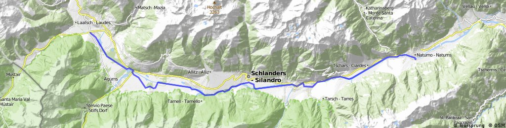 Route 1 Südtirol Glurns bis Naturns