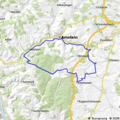 Rieden - Gramschatz - Binsfeld - Arnstein - Rieden