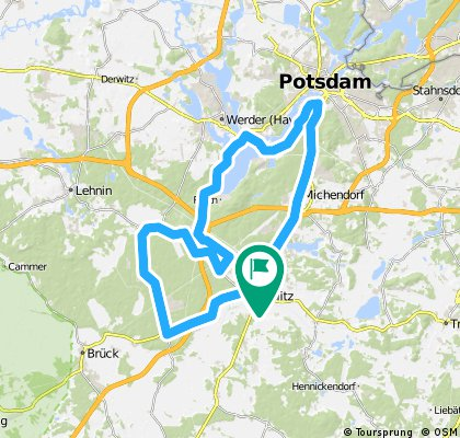 Beelitz-Klaistow-Schwielowsee-Potsdam-Beelitz
