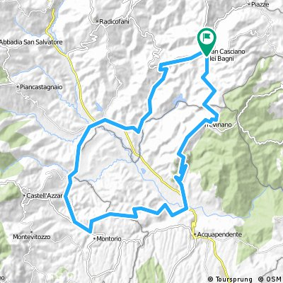 Cycling routes and bike maps in and around San Casciano dei Bagni ...