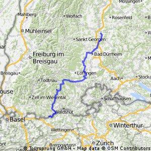 VCS 2-Tages-Tour 2015  2.Tag   Rottweil - Laufenburg