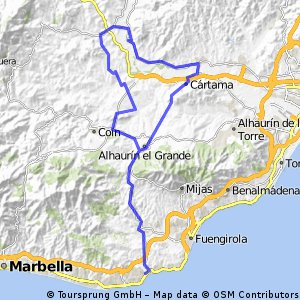 Cycling routes and bike maps in and around Fuengirola Bikemap
