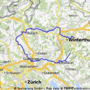 To Neftenbach, Bülach, Flughagen, Kyburg