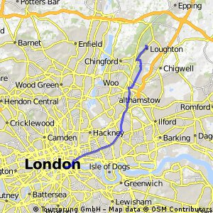 Loughton to Southwark- R1