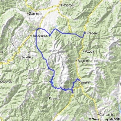 Predeal-Paraul Rece-Bran-Simon-Lacul Bolboci-Sinaia