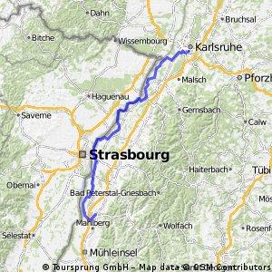 Lahr- Karlsruhe (Schwanau-Rheinau-Route)