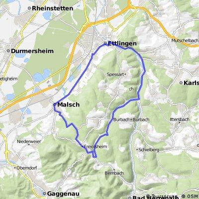 Ettlingen - Moosalbtal-Anstieg I