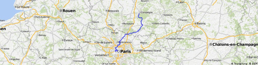 London to Paris day 4