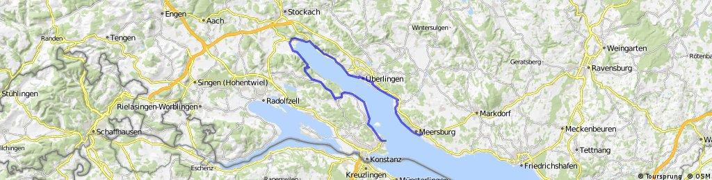 Von Meersburg nach Konstanz zurück mit der Autofähre