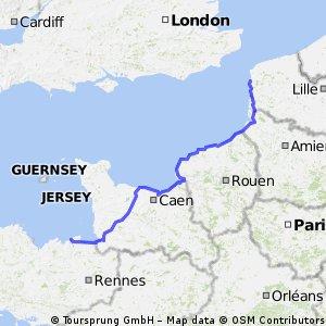 Boulogne-s-mer via Le Havre naar St malo