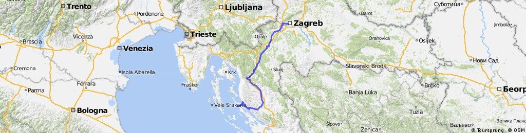 M24 Zagreb-Josipdol-Gospić-Karlobag-Novalja