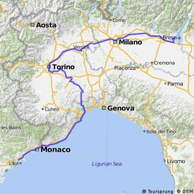 Part 6 : Cannes->Garda  700km. max 400m Part 6. Poland-Rome-Garda