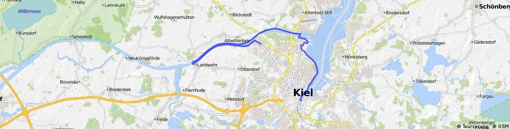 Kieler Bucht Karte.Kiel Nord Ostsee Kanal Kieler Förde Bikemap Deine Radrouten