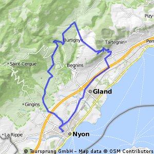 NyonCheserexDivonneVichTrelexNyon Bikemap Your bike routes