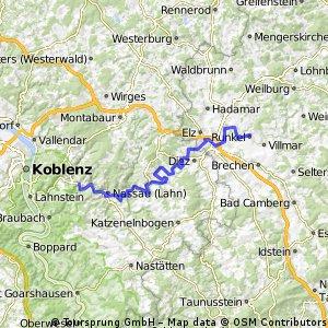 Lahnradweg Runkel - Bad Ems