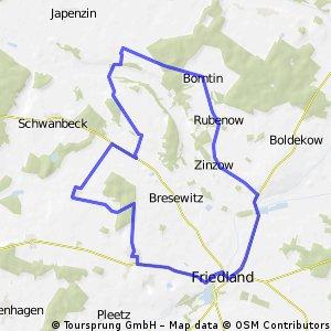 Hansi´s Runde: Beseritz, Friedland und zurück