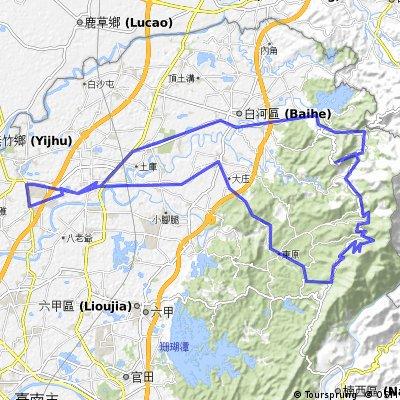 新營、關仔嶺(水火同源)、咖啡公路、仙公廟、東原、東山、新營