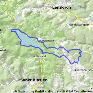 Schluchsee - Schluchsee Rundkurs
