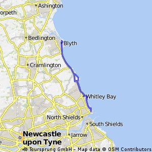Blyth Workspace to Tynemouth and back