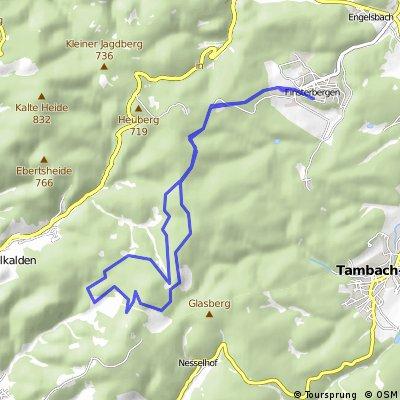 Wanderung: Finsterbergen - Ebertswiese