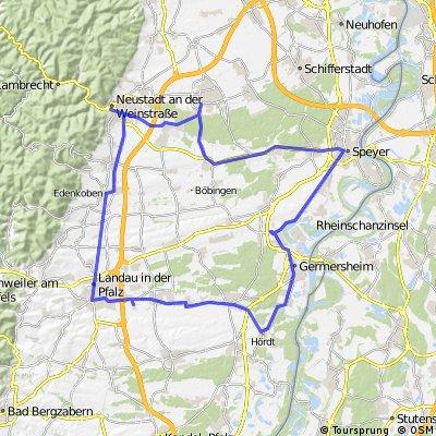 Rheinebene und Haardtrand