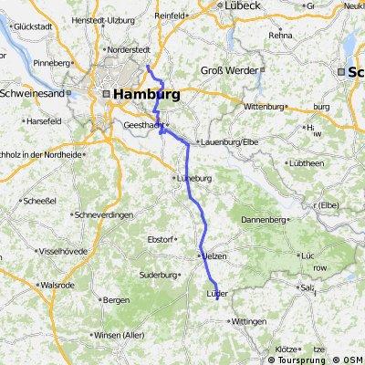 Entlang Elbe Seitenkanal ab Ahrensburg bis Lüder