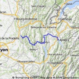 Amberieu over Seyssel->annecy