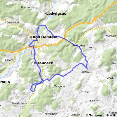 Haunetal-Schenklengsfeld-Bad Hersfeld- Haunetal