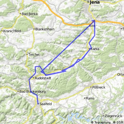 Saaleradweg Saalfeld - Jena