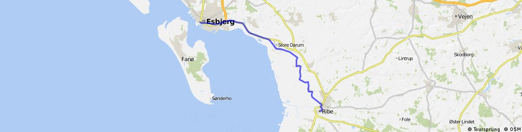Esbjerg-Ribe   Bikemap - Deine Radrouten