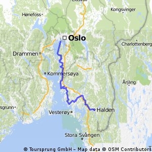 Nordsjøruta øst: Halden - Moss - Drøbak - Nesodden