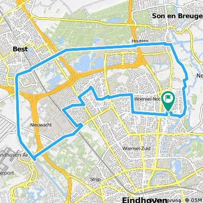 28 km - Rondje Woensel-Noord