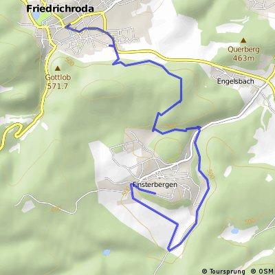 Wanderung: Finsterbergen - Friedrichroda BusStop