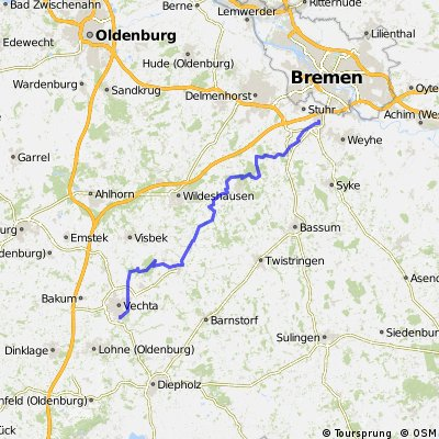 Map Of Vechta Germany.Cycling Routes And Bike Maps In And Around Vechta Bikemap Your